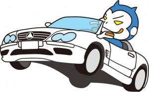 暴走するセダン普通自動車のイメージ