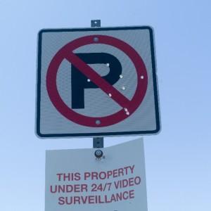 駐車禁止場所を示す標識