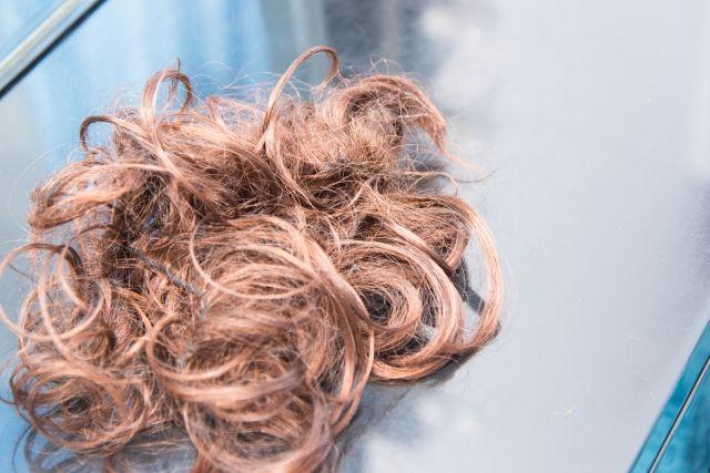 くしゃくしゃに丸まった毛