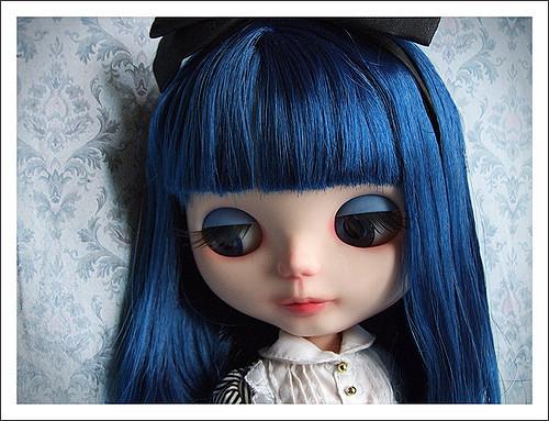 青髪のblythedoll