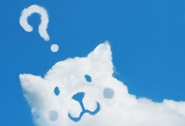 はてなマークの犬型雲