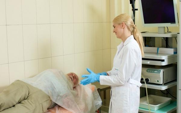 外国病院での検査風景