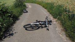 事故した自転車