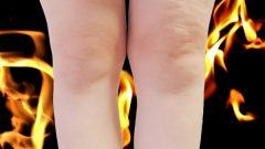 足の脂肪が燃焼していくイメージ