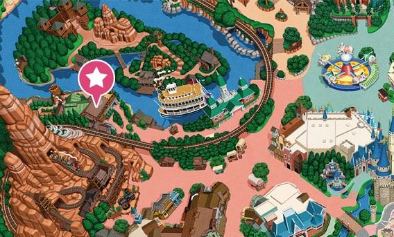 キャンプ・ウッドチャック・キッチンの地図